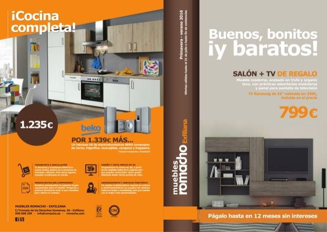 Folleto muebles romacho primavera verano 2016 for Muebles sanchez catalogo