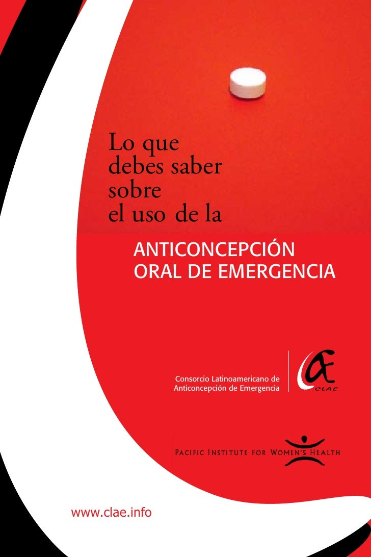 Lo que      debes saber      sobre      el uso de la           AntiConCEpCión           orAL dE EmErgEnCiA                ...