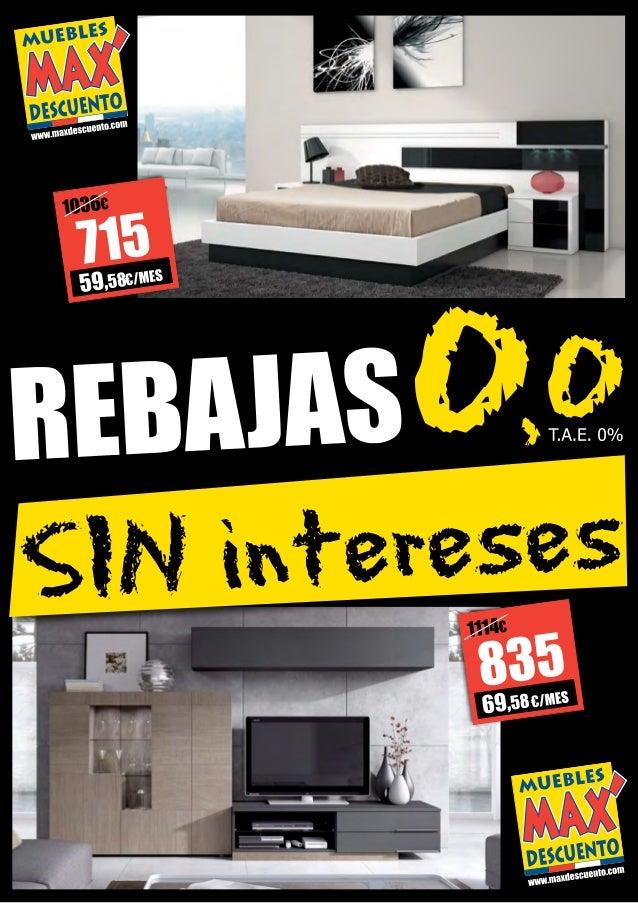 Folleto rebajas muebles max descuento julio 2014 for Rebajas muebles