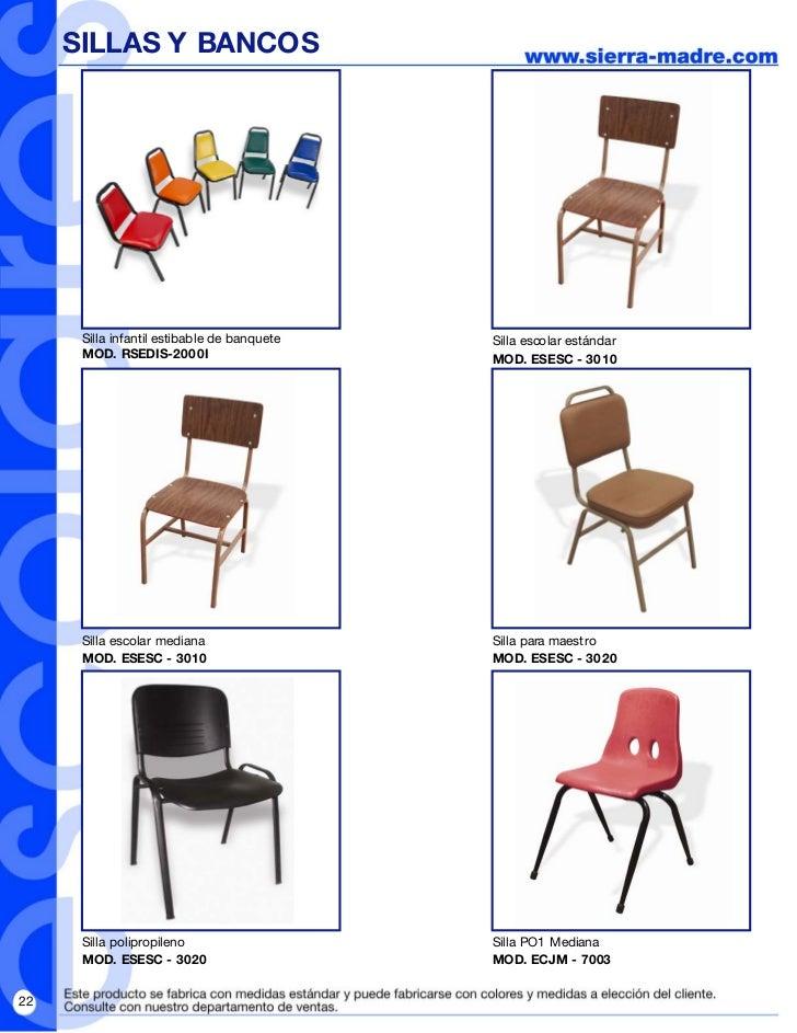 Folleto revista escolar pdf for Medidas sillas ninos