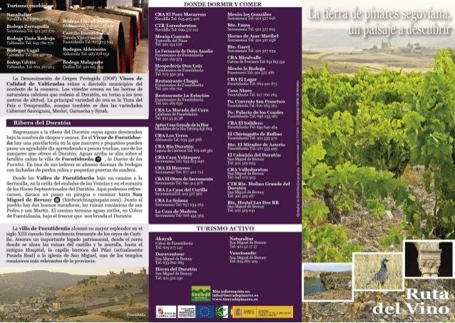 Turismo enolòfiî                                       DONDE DORMIR Y C OMER     Nnvnltallnr CRA El Polo Macareno lflesòn 10...