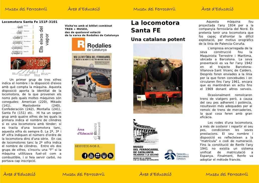 Museu del Ferrocarril                      Àrea d'Educació                       Museu del Ferrocarril    Àrea d'EducacióL...