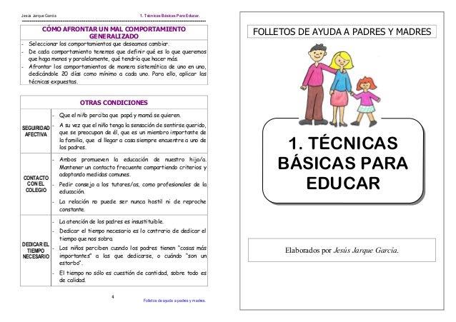 folletos de ayuda a padres y madres t cnicas basicas para On tecnicas gastronomicas basicas