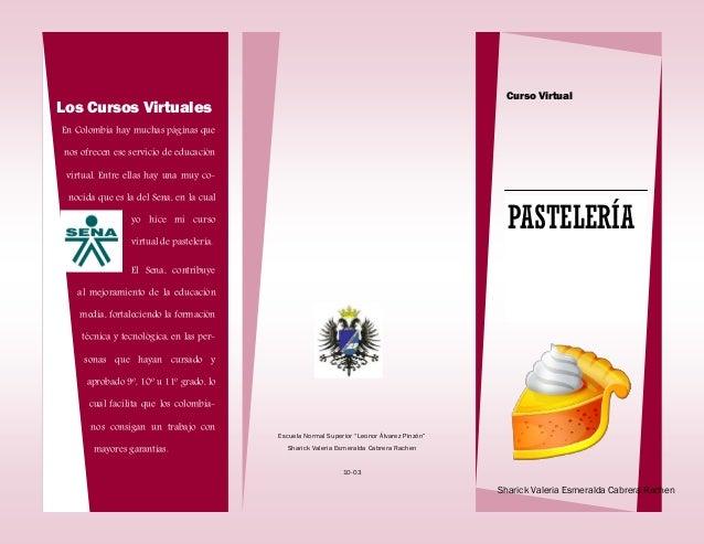 folleto sena pasteleria