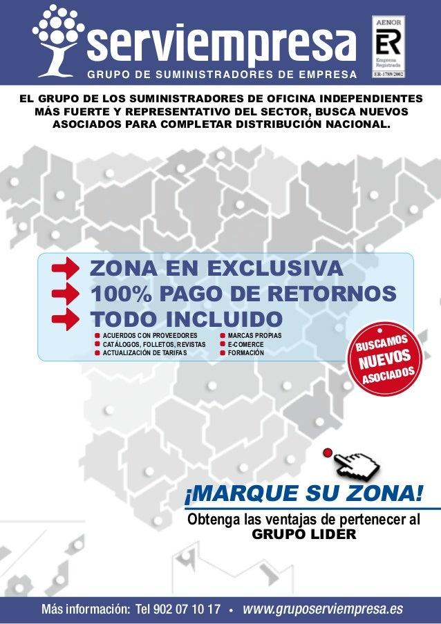 EL GRUPO DE LOS SUMINISTRADORES DE OFICINA INDEPENDIENTES MÁS FUERTE Y REPRESENTATIVO DEL SECTOR, BUSCA NUEVOS ASOCIADOS P...