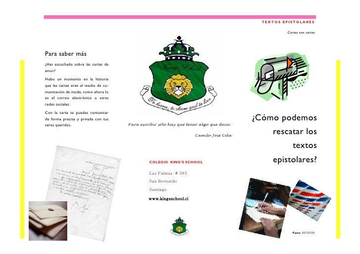 TEXTOS EPISTOLARES                                                                                                   Carta...