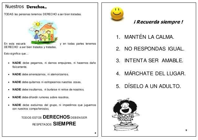 Manual Escolar Sobre Buena Convivencia Y Buen Trato En La Escuela
