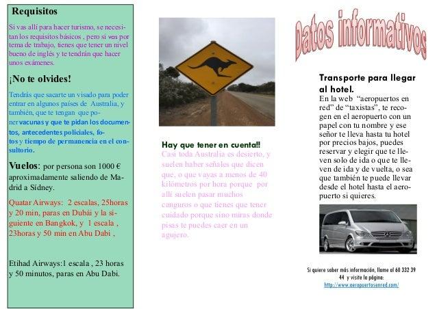 Folleto turistico australia - Mandarina home folleto ...