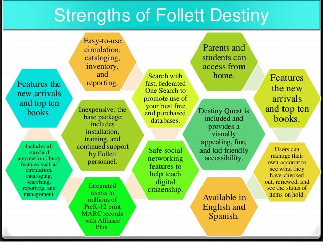 What are some features of the Follett Destiny mobile app?