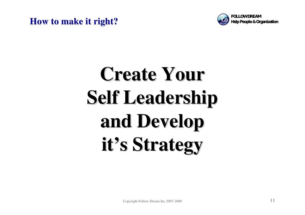 FOLLOW DREAM How to make it right?                                          Help People & Organization                   C...