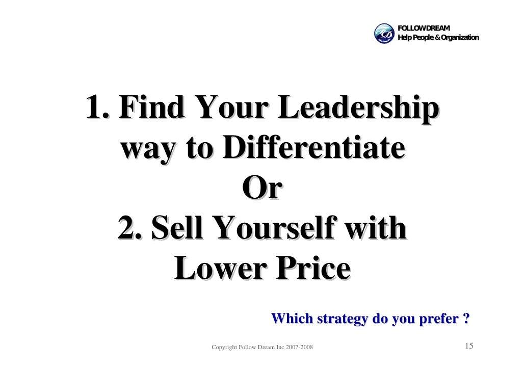 FOLLOW DREAM                                                 Help People & Organization     1. Find Your Leadership    way...