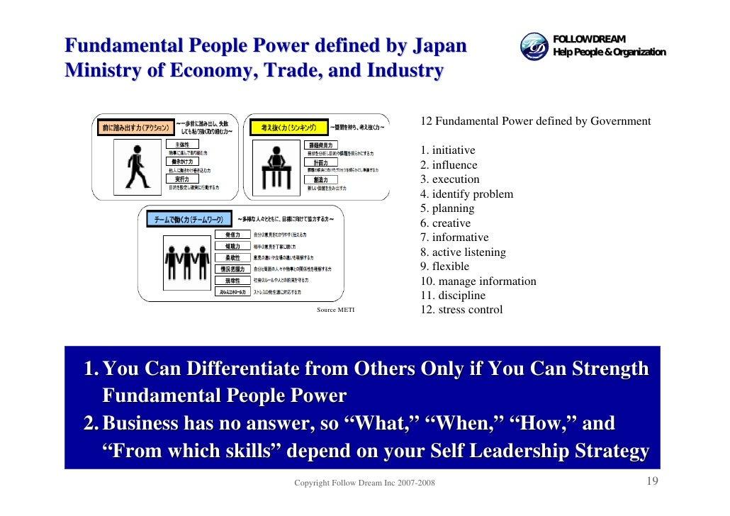 FOLLOW DREAM Fundamental People Power defined by Japan                                        Help People & Organization  ...