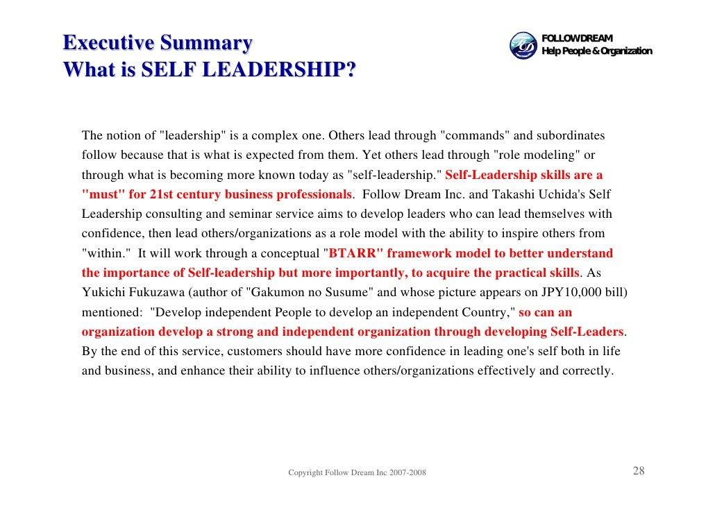 FOLLOW DREAM Executive Summary                                                                    Help People & Organizati...