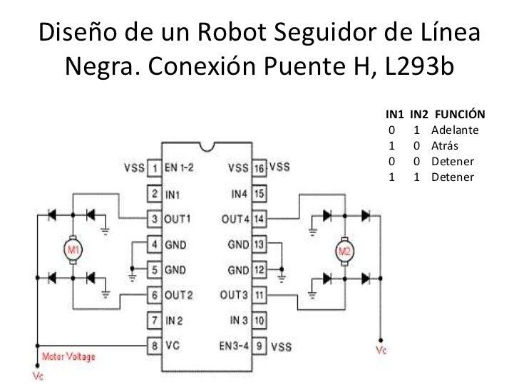 Circuito H : Robot seguidor de linea