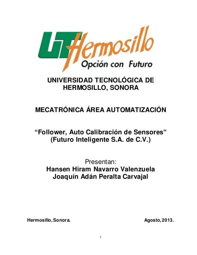 Follower memoria final universidad tecnologica de hermosillo for Universidades en hermosillo