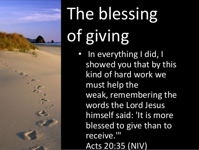 Image result for the blessing of giving
