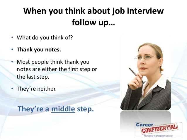 what to do after interview