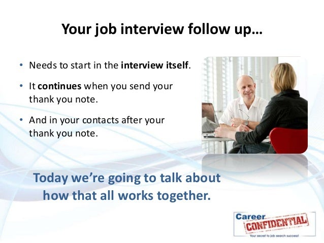Following up after the interview