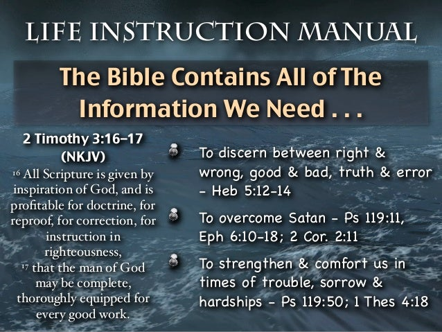 The Bible The Life Instruction Manual
