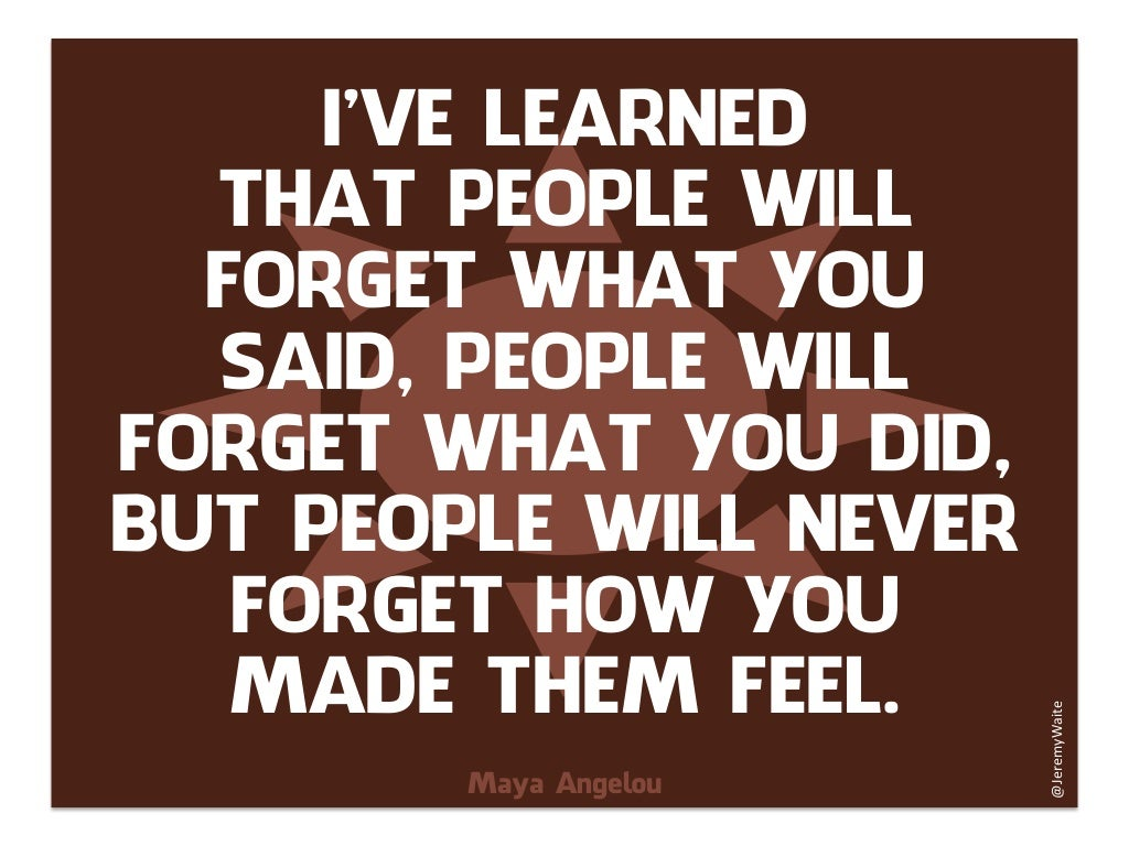 Ive Learned That People Will