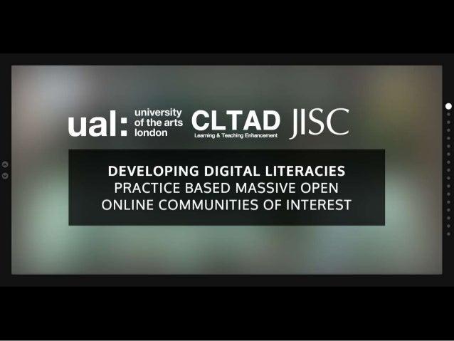 DIAL-Developing digital literacies for Practice Based Massive Open Online Communities of Interest