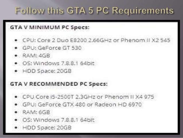 gta v computer requirements