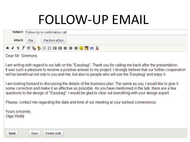 Follow up email