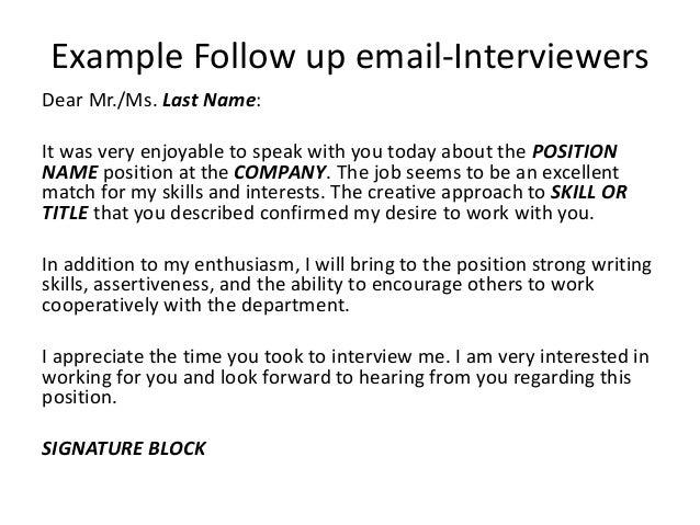 job follow up job follow up email examples resumesdesign com job ...