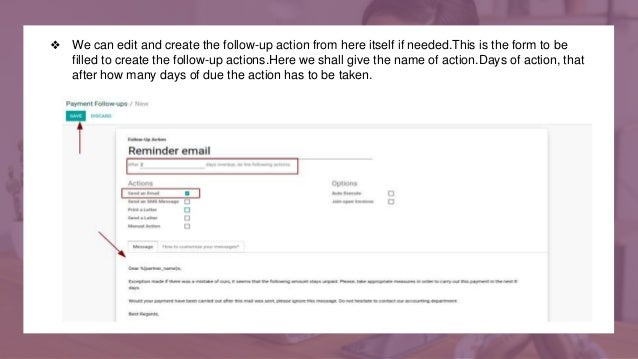 ❖ We can edit and create the follow-up action from here itself if needed.This is the form to be filled to create the follo...
