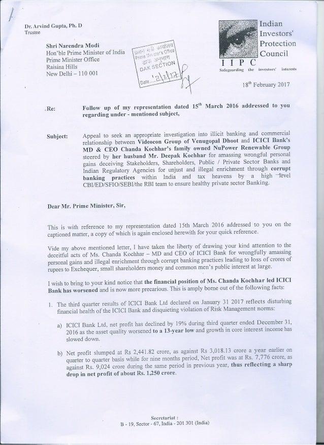 Arvind Gupta's follow-up letter