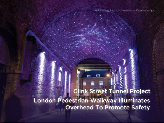 sponsored bypresents the Future Of Light London Pedestrian Walkway Illuminates Overhead To Promote Safety Welcoming Light ...