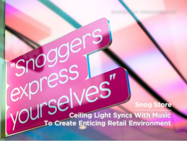sponsored bypresents the Future Of Light Ceiling Light Syncs With Music To Create Enticing Retail Environment Sound Syncin...