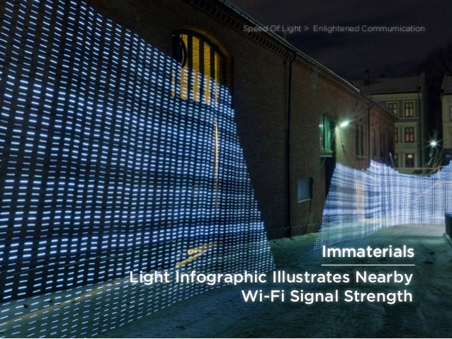 sponsored bypresents the Future Of Light Light Infographic Illustrates Nearby Wi-Fi Signal Strength Speed Of Light > Enlig...