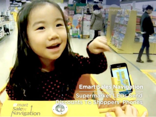 sponsored bypresents the Future Of Light Supermarket LEDs Send Discounts To Shoppers' Phones Speed Of Light > Enlightened ...
