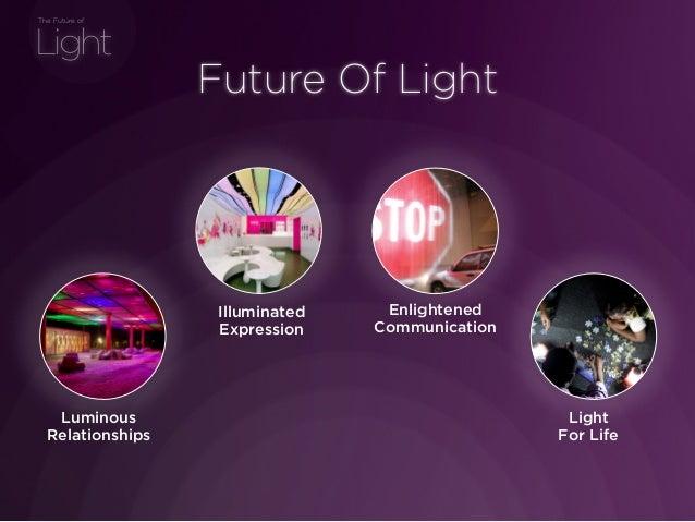 sponsored bypresents the Future Of Light Light The Future of Future Of Light Light For Life Enlightened Communication Illu...