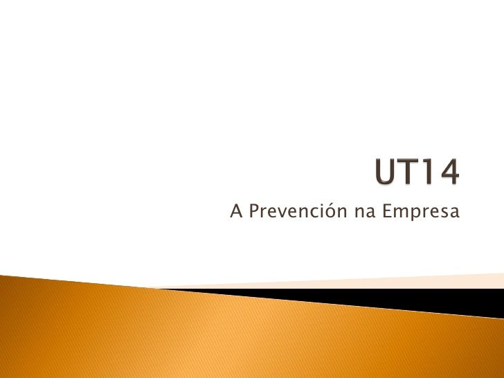 A Prevención na Empresa