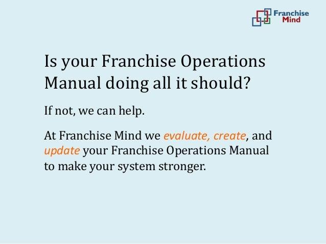 Restaurant Franchise Operation manual