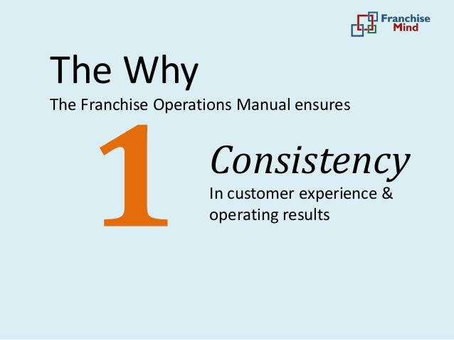 how to create a franchise operations manual