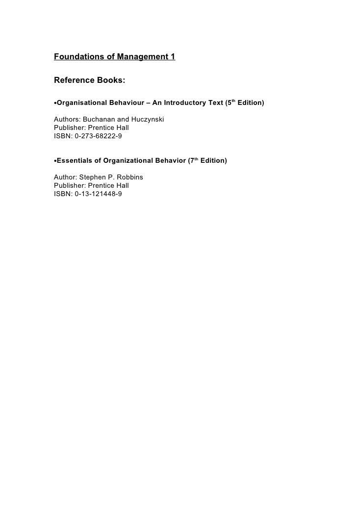 organisational behaviour 5th edition pdf
