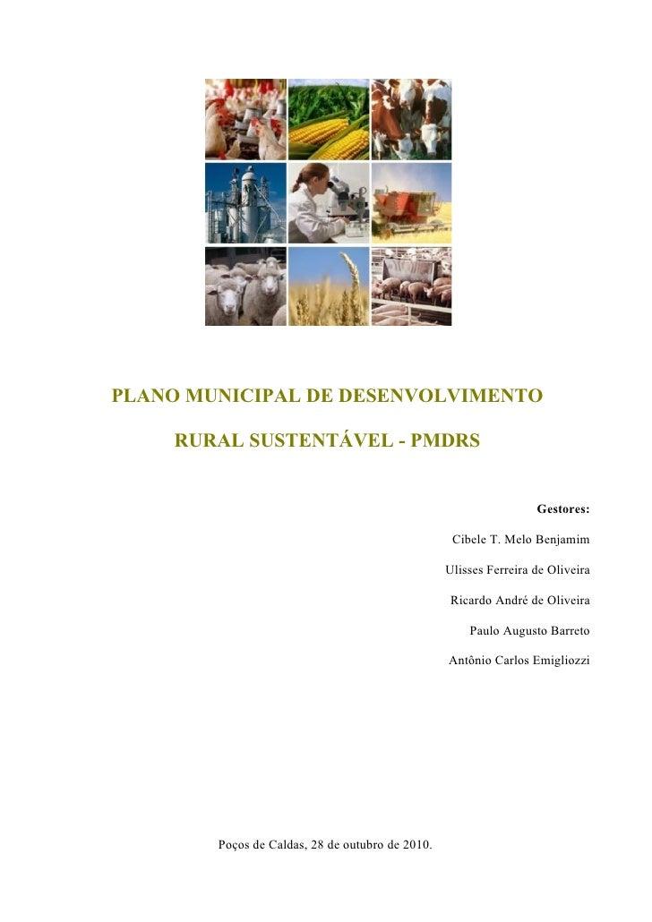 PLANO MUNICIPAL DE DESENVOLVIMENTO      RURAL SUSTENTÁVEL - PMDRS                                                         ...