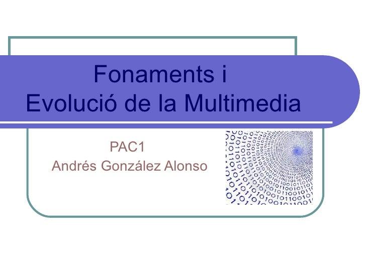 PAC1  Andrés González Alonso Fonaments i  Evolució de la Multimedia