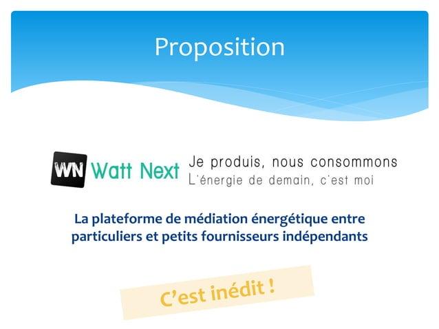 La plateforme de médiation énergétique entre particuliers et petits fournisseurs indépendants Proposition