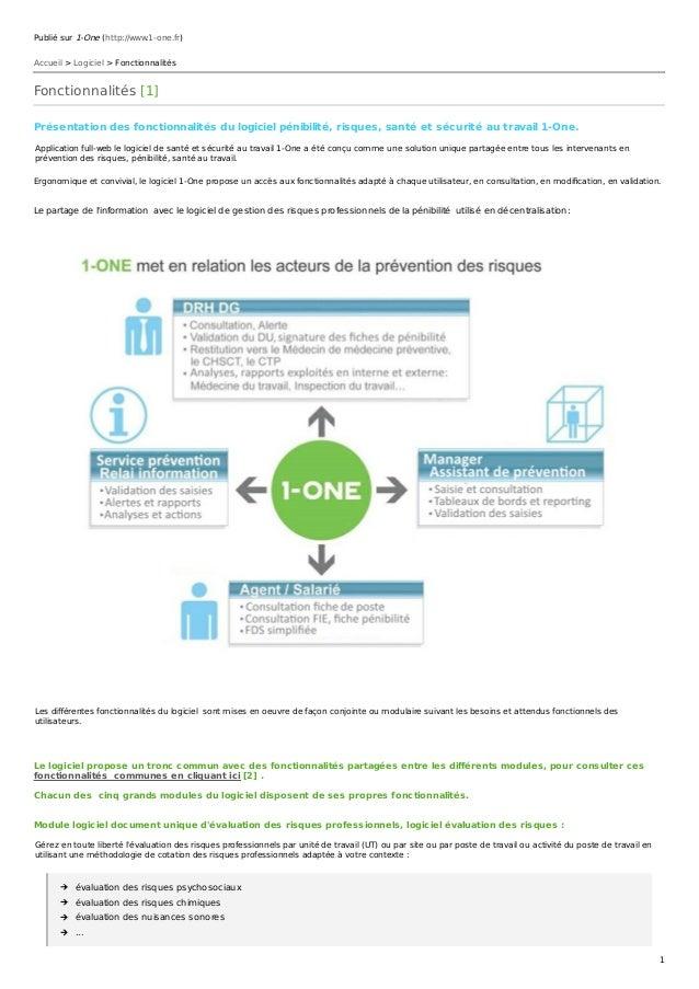 Publié sur 1-One (http://www.1-one.fr) Accueil > Logiciel > Fonctionnalités Fonctionnalités [1] Présentation des fonctionn...