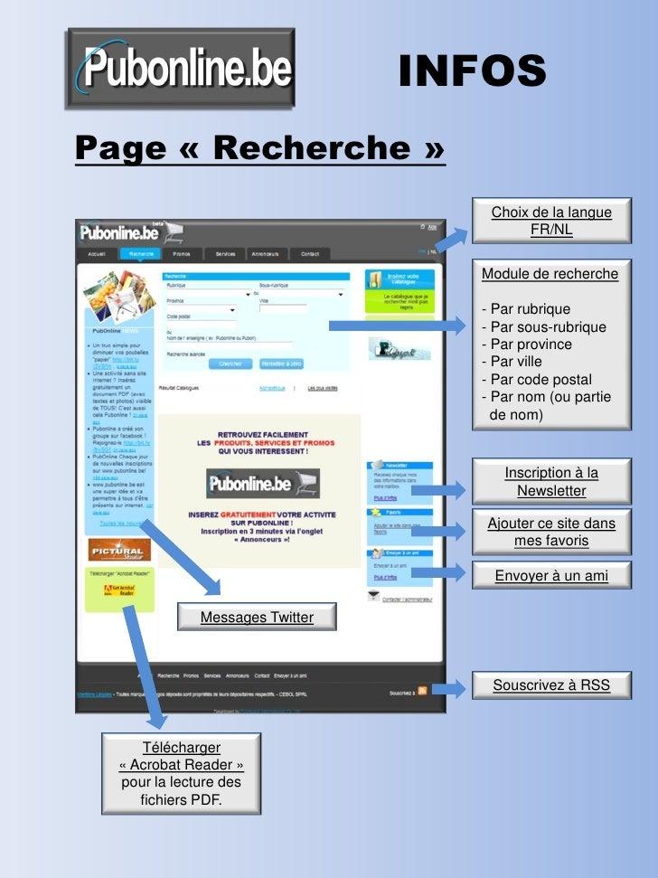 INFOS Page « Recherche »                                     Choix de la langue                                          F...