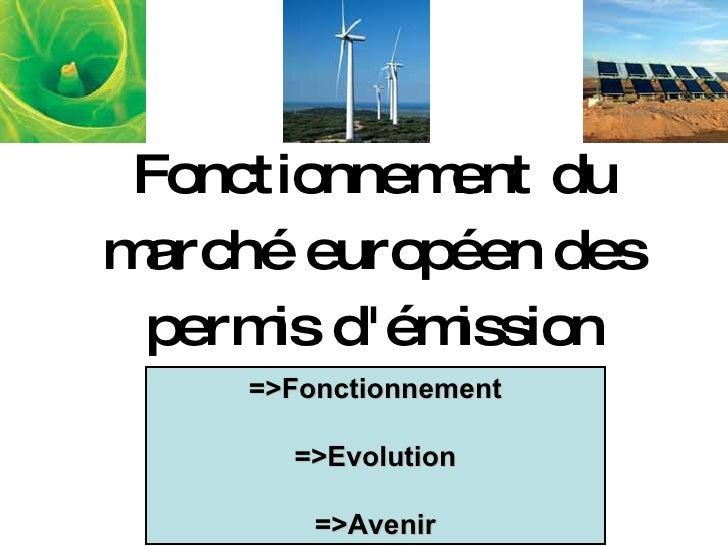 Fonctionnement du marché européen des permis d'émission =>Fonctionnement =>Evolution =>Avenir