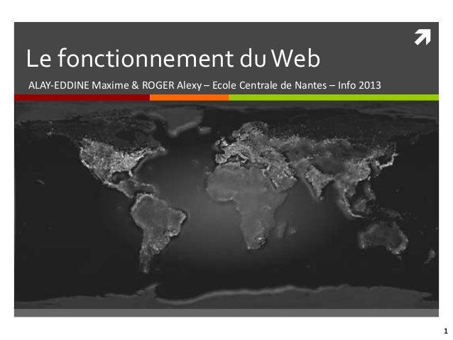Le fonctionnement du WebALAY-EDDINE Maxime & ROGER Alexy – Ecole Centrale de Nantes – Info 2013                          ...