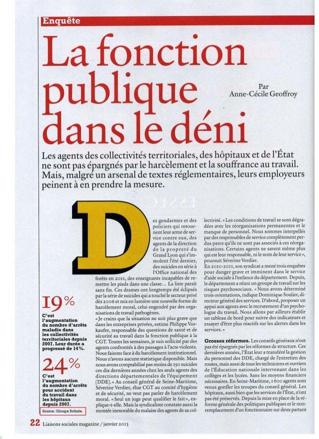 Fonction publique sofaxis_liaisons sociales2013