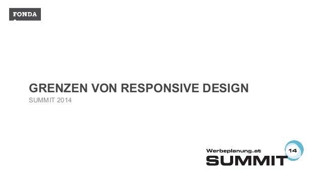 GRENZEN VON RESPONSIVE DESIGN SUMMIT 2014