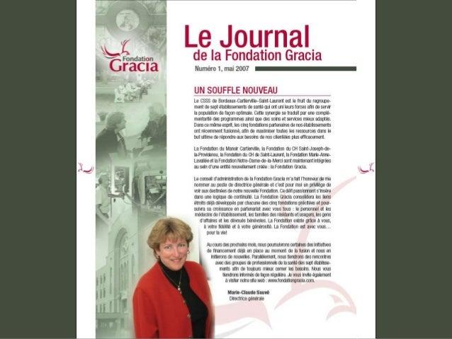 Journal de la Fondation Gracia - Numéro 1