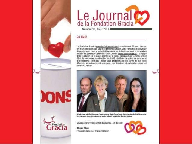 Journal de la Fondation Gracia - Numéro 17